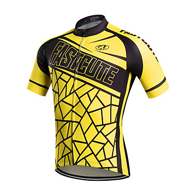 FUALRNY® Ανδρικά Κοντομάνικο Φανέλα ποδηλασίας Πολυεστέρας Ταφτάς Κίτρινο Ποδήλατο Αθλητική μπλούζα Μπολύζες Ποδηλασία Βουνού Ποδηλασία Δρόμου Αναπνέει Ύγρανση Γρήγορο Στέγνωμα Αθλητισμός Ρούχα