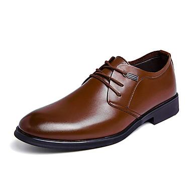 Ανδρικά Τα επίσημα παπούτσια Νάπα Leather Καλοκαίρι Δουλειά / Βρετανικό Oxfords Περπάτημα Αναπνέει Καφέ / Γάμου