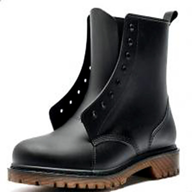 Herre Combat-boots PVC Vår / Høst Støvler Vanntett Støvletter Svart / utendørs