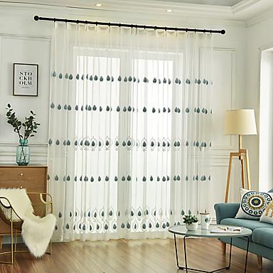 dois painel sala de crianças sala de estar quarto sala de jantar cortina bordada