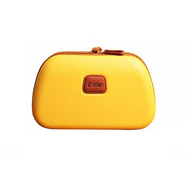 preiswerte Kosmetiktaschen-Wasserdicht PVC Knöpfe / Reißverschluss Kosmetik Tasche Einfarbig Alltag Gelb / Fuchsia / Khaki / Herbst Winter