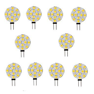 10pcs 2 W LED-lamper med G-sokkel 200 lm G4 12 LED perler SMD 5050 Varm hvit Hvit 12 V