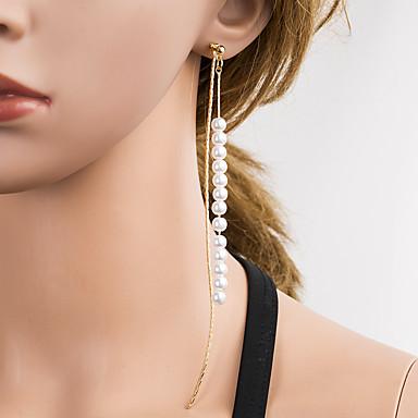 Dame Multi-farge Dråpeøreringer Perler Dyrebar Stilfull Enkel Luksus Koreansk Fuskediamant øredobber Smykker Gull Til Daglig 1 par