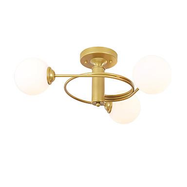3-Light Globe / Originale Skyllmonteringslys Omgivelseslys Malte Finishes Metall Glass Matt, Kreativ, Nytt Design 110-120V / 220-240V
