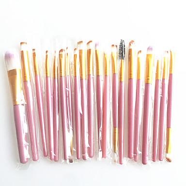 Profesjonell Makeup børster 20pcs Full Dekning comfy Kunstig fiber børste Tre / Bambus til Sminkebørste
