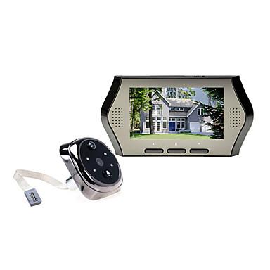 έξυπνη ηλεκτρονική πόρτα πόρπη της πόρτας 4,3 ιντσών αντι-κλοπή anti-smash οθόνη φωτογραφική μηχανή βίντεο αισθητήρα κίνησης