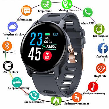 sm04 έξυπνο ρολόι s08 ip68 γυμναστήριο tracker καρδιακός ρυθμός παρακολούθησης βηματόμετρο αδιάβροχο smartwatch για τηλέφωνο Android
