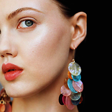povoljno Modne naušnice-Žene Naušnica Novčić Duga Jednostavan Moda Moderna Šarene Naušnice Jewelry Duga Za Party Dnevno Ulica Rad 1 par