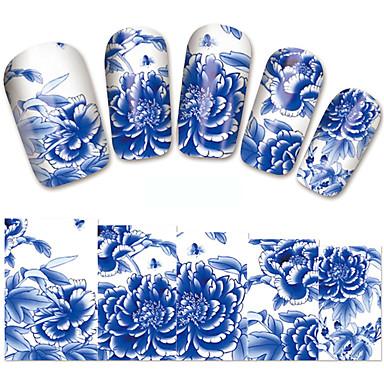 1 pcs Αυτοκόλλητα Σειρά Λουλουδιών / Ρομαντική σειρά τέχνη νυχιών Μανικιούρ Πεντικιούρ Mini Style / Ασφάλεια / Λεπτή σχεδίαση Στυλάτο / Απλός Καθημερινά / Φεστιβάλ