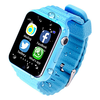 v7k gps smart baby telefon se barn gps smartwatch berøringsskjerm med kamera sos plassering enhet tracker barn trygg anti-tapt