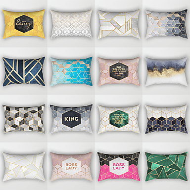 cheap Pillow Covers-1 pcs Polyester Pillow Cover, Geometic Fashion Bed Pillow