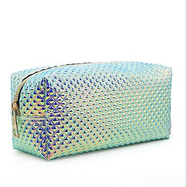 PVC Φερμουάρ Τσάντα καλλυντικών Καθημερινά Πράσινο του τριφυλλιού