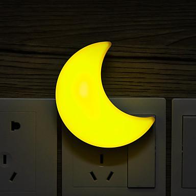 1pc Wall Plug Nightlight Ψυχρό Λευκό / Κίτρινο Δημιουργικό 220-240 V