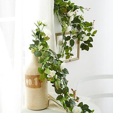 Ψεύτικα λουλούδια 1 Κλαδί Στήριξη στον τοίχο Μοντέρνα Τριαντάφυλλα