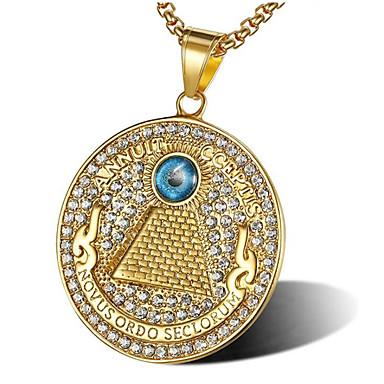 Ανδρικά Cubic Zirconia Κρεμαστά Κολιέ Κλασσικό Αστέρι του Δαβίδ Μοντέρνα Τιτάνιο Ατσάλι Χρυσό 56 cm Κολιέ Κοσμήματα 1pc Για Δώρο Καθημερινά