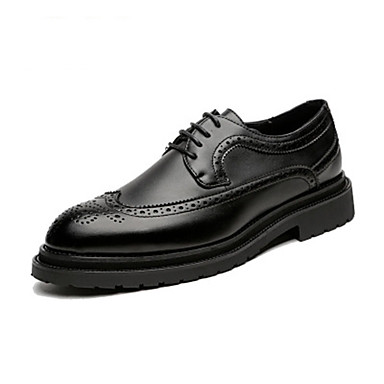 Ανδρικά Παπούτσια άνεσης Συνθετικά Φθινόπωρο / Ανοιξη καλοκαίρι Oxfords Μαύρο / Καφέ