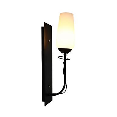enkel veggmontert glass vegglampe enkeltlys retro vintage / enkelt flushmontert vegglamper / vegglamper& sconces butikker / kafeer / innendørs metall vegg lys