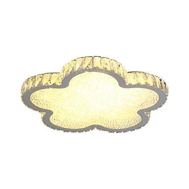 krystallspyler monteringslys omgivende lys malte overflater metall ledd dimbar dimmable taklamper flush mount med fjernkontroll