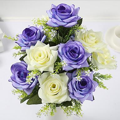 Ψεύτικα λουλούδια 1 Κλαδί Κλασσικό Μοντέρνα Τριαντάφυλλα Τουλίπες Λουλούδι για Τραπέζι