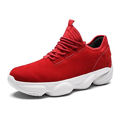 Ανδρικά Suede παπούτσια Σουέτ Ανοιξη καλοκαίρι / Φθινόπωρο & Χειμώνας Αθλητικό / Καθημερινό Αθλητικά Παπούτσια Τρέξιμο / Περπάτημα Μη ολίσθηση Μαύρο / Κόκκινο / Γκρίζο / Φορέστε την απόδειξη