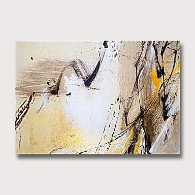 Hang-ζωγραφισμένα ελαιογραφία Ζωγραφισμένα στο χέρι - Αφηρημένο Μοντέρνα Χωρίς Εσωτερικό Πλαίσιο
