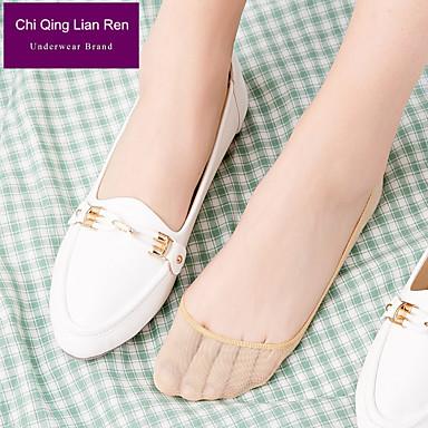 preiswerte Neu Eingetroffen-2 Paar Damen Socken Standard Solide Beinformung Süßer Style Baumwolle EU36-EU46