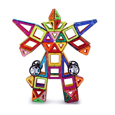 preiswerte Magnetische Bauklötze-Magnetische Bauklötze Magnetische Fliesen Bausets 109 pcs Geometrische Muster 3D Zeichentrick Eltern-Kind-Interaktion Alles Spielzeuge Geschenk