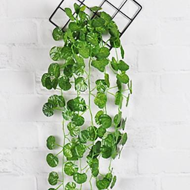 Kunstige blomster 1 Gren Veggmontert Moderne Moderne Planter Veggblomst
