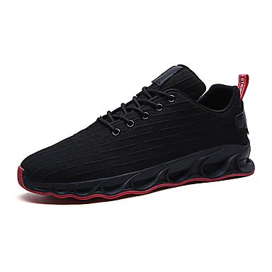 Ανδρικά Παπούτσια άνεσης Ελαστικό ύφασμα / Φουσκωτό πηνίο Καλοκαίρι Αθλητικό Αθλητικά Παπούτσια Τρέξιμο Μη ολίσθηση Συνδυασμός Χρωμάτων Μαύρο και Χρυσό / Μαύρο / Άσπρο / Μαύρο / Κόκκινο