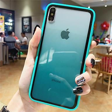 povoljno iPhone maske-Θήκη Za Apple iPhone XS / iPhone XR / iPhone XS Max Uzorak Stražnja maska Prijelaz boje Kaljeno staklo