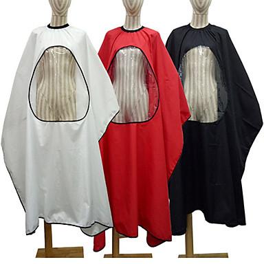 1 pc pro salão de barbeiro cabelo corte vestido de capa com visualização janela transparente cabeleireiro avental engraçado novidade roubou