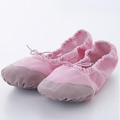 Jente Dansesko Lerret Ballettsko Flate Flat hæl Rød / Rosa / Naken / Ytelse / Trening