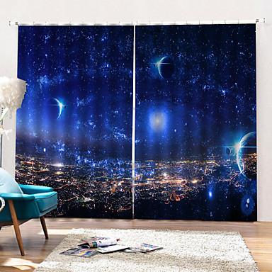 blink stjerneutskriftsgardiner sterk fasthet tykk vanntett polyester bad gardin varme / lydisolering blackout gardiner stoff for stue / stue