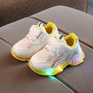 Αγορίστικα LED / Ανατομικό / Φωτιζόμενα παπούτσια Δίχτυ Αθλητικά Παπούτσια Τα μικρά παιδιά (4-7ys) Περπάτημα LED Βυσσινί / Κίτρινο / Ροζ Άνοιξη / Καλοκαίρι / Καοτσούκ