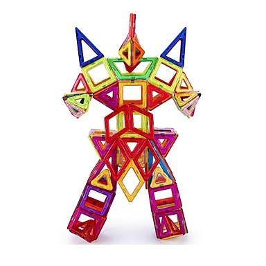 preiswerte Magnetische Bauklötze-Magnetische Fliesen 72 pcs Geometrische Muster 3D Zeichentrick Eltern-Kind-Interaktion Alles Spielzeuge Geschenk