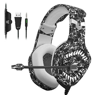 preiswerte Nützliche Gadgets-onikuma k1 pro gaming headset für mobiles gaming headset e-sports mit mikrofon stereo surround usb headset für pc und laptop