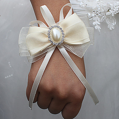 Bryllupsblomster Håndledscorsage Bryllup / Bryllupsfest Groskorn / Aluminium-magnesium legering 0-10 cm