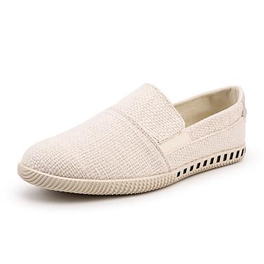 men's comfort shoes linen summer casual loafers  slipons