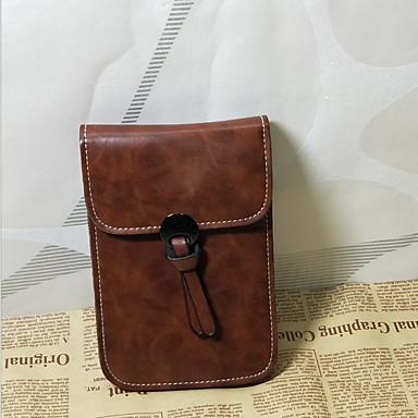 Γυναικεία Σχέδιο / Στάμπα PU Σταυρωτή τσάντα Μαύρο / Καφέ / Κρασί