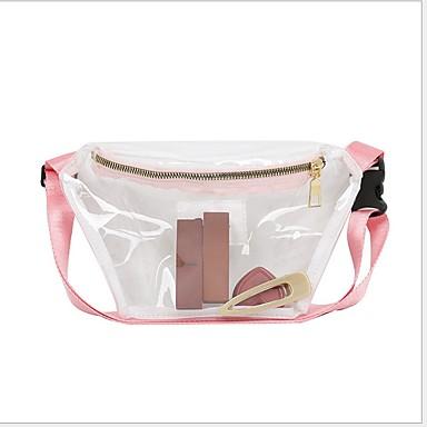 저렴한 Sling Shoulder Bags-여성용 지퍼 PVC 슬링 어깨 가방 한 색상 블랙 / 블러슁 핑크 / 그레이