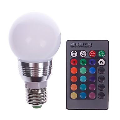 1pc 5 W LED Λάμπες Σφαίρα E26 / E27 1 LED χάντρες Τηλεχειριζόμενο Πολύχρωμα χρώματα 85-265 V
