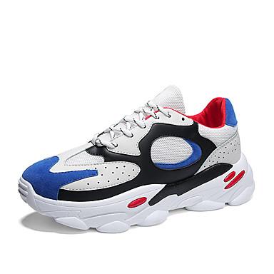 Homens Sapatos Confortáveis Couro Ecológico Primavera Verão Formais / Colegial Tênis Respirável Branco / Preto / Branco / azul / Bege / Não escorregar