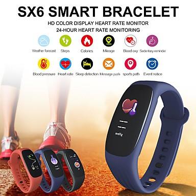 sx6 έξυπνο βραχιόλι καρδιακό ρυθμό πίεση αίματος οξυγόνο ύπνο παρακολούθηση βήματα κλήση πληροφορίες αδιάβροχο αθλητισμό fitness wristband