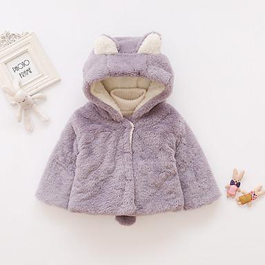 povoljno Odjeća za bebe-Dijete Djevojčice Aktivan / Osnovni Jednobojni / Kolaž Normalne dužine Jakna i kaput Blushing Pink