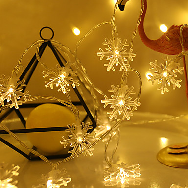 6m φτερά χιονιού φανάρια σειρά 40 οδηγήσεων ζεστό λευκό / αλλαγή χρώματος / πάρτι / Χριστούγεννα / διακόσμηση γάμου usb powered 1pc