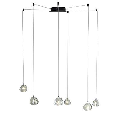 moderne lysekrone 6 lys hengende lampe slippe anheng takarmatur krystall g4 ledet pærer inkludert for spisestue levende kontor kafé rom