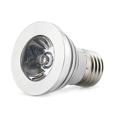 1pc 3 W LED-spotpærer E26 / E27 1 LED perler Fjernstyrt Multi-farger 85-265 V