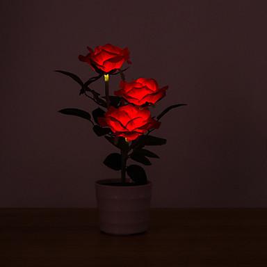 1pc LED νύχτα φως Κόκκινο Ηλιακή Ενέργεια Δημιουργικό 12 V