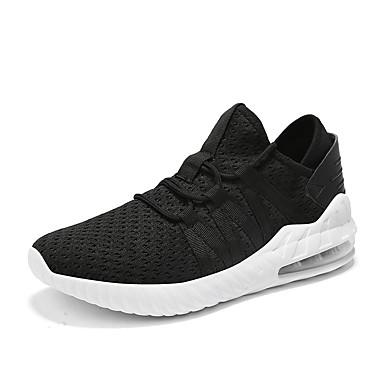 Ανδρικά Παπούτσια άνεσης Ελαστικό ύφασμα / Φουσκωτό πηνίο Καλοκαίρι Αθλητικό Αθλητικά Παπούτσια Τρέξιμο Μη ολίσθηση Μαύρο / Μαύρο / Άσπρο / Κόκκινο