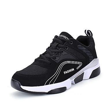 Ανδρικά Παπούτσια άνεσης Δίχτυ / PU Φθινόπωρο Αθλητικό Αθλητικά Παπούτσια Τρέξιμο Μη ολίσθηση Μαύρο / Άσπρο / Μαύρο / Κόκκινο / Μαύρο / Πράσινο